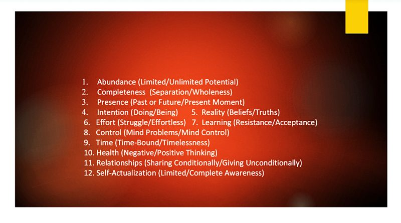 A list of the 12 paradigms.